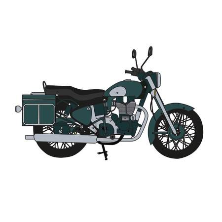 Classic, retro Motorcycle Stock Vector - 13384937
