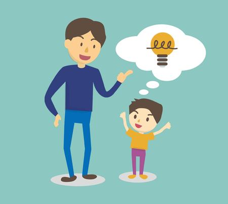 Adults praise the idea of ??a child very well