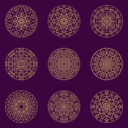 Mandala seamless pattern Vektorové ilustrace