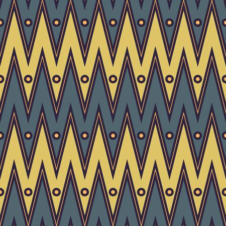 Earthly Toned Chevron With Dots Seamless Pattern