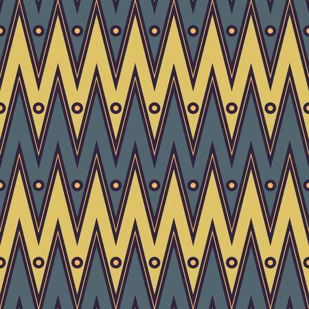 Earthly Toned Chevron With Dots Seamless Pattern Reklamní fotografie - 133668563