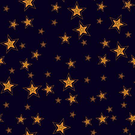 Shining Stars Seamless Pattern