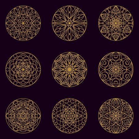 Sacred geometry Mandala seamless pattern 14