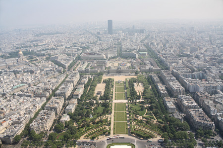 View from the top of the Eifel tower photo