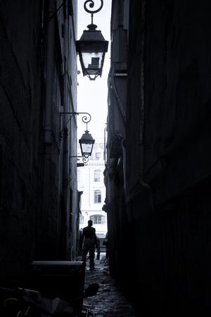 backstreet: Par�s Backstreet Foto de archivo