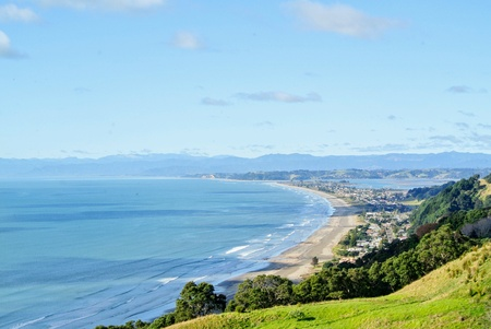 newzealand: Nz mosted love beach Stock Photo
