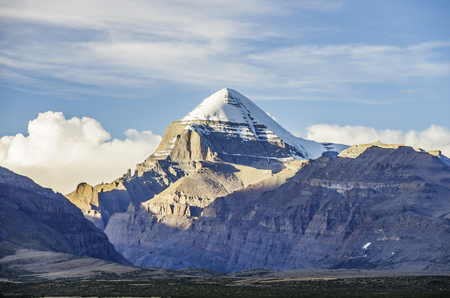 Southwest view of Mount Kailash, Tibet Autonomous Region, China.