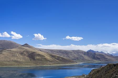 Yamdrok lake in the Tibet,China.