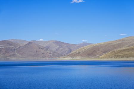 Yamdrok lake in the Tibet, China.