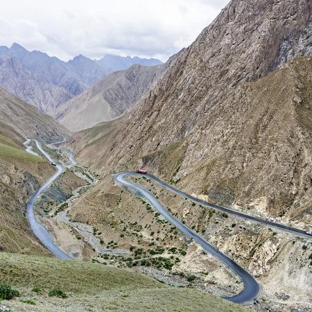 Panshan Highway Scenery 版權商用圖片