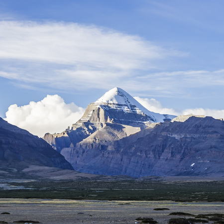 Southwest view of Mount Kailash Banco de Imagens