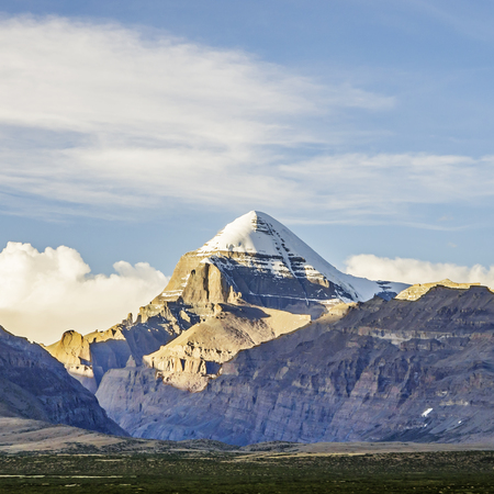 Southwest view of Mount Kailash, Tibet Autonomous Region, China.
