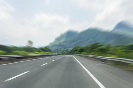 motion blur of the urban highway road. Фото со стока