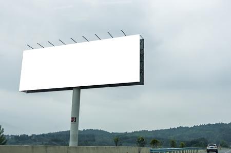 Blank billboard ready for new advertisement Фото со стока