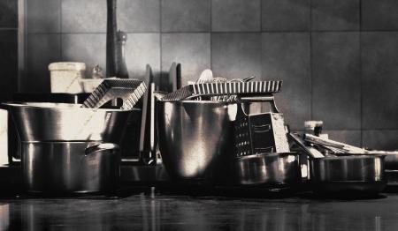 pots pans: Pots and Pans Stock Photo