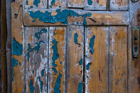 wood box: texture old wooden door with peeling paint