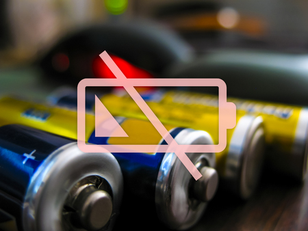 alternator: icon discharged battery on a colored background Stock Photo
