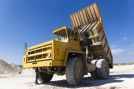 haul: Large haul truck ready for big job in a mine