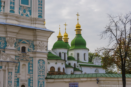 double headed eagle: view of the ancient architecture of Kiev-Pechersk Lavra