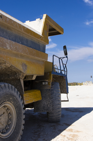 open cast mine: Large haul truck ready for big job in a mine