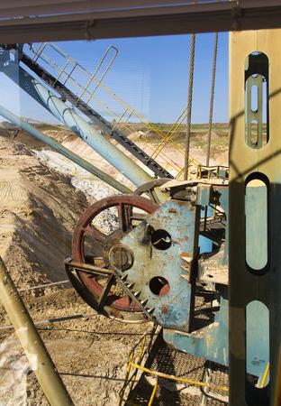 dragline: mechanisms large dragline excavator, view from cockpit