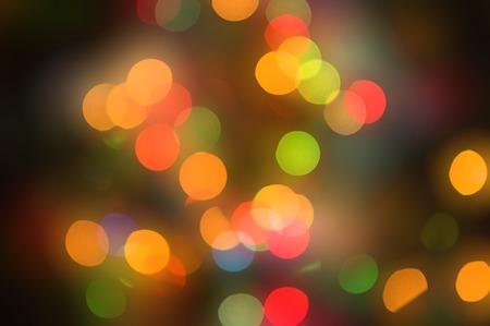 bokeh lights: Abstract circular lights blurred bokeh holiday background of Christmas light Stock Photo