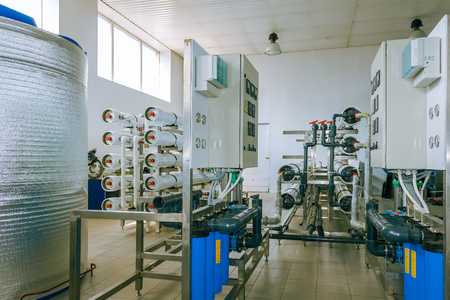 installation of industrial membrane devices water treatment based on reverse osmosis system Standard-Bild
