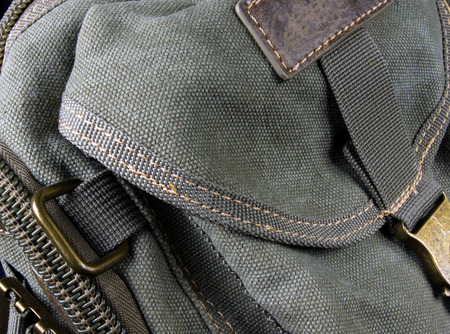closeup of fittings and zips hand bag