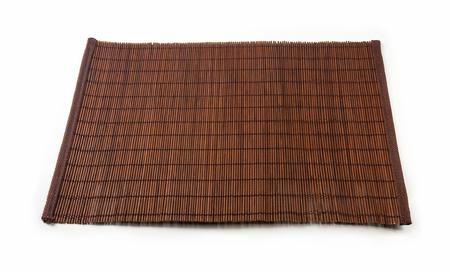 bruin bamboe Mat - staan eten, close-up, macro