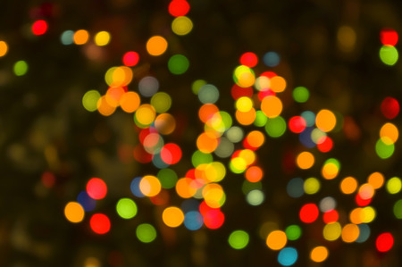 Abstract circular lights blurred bokeh holiday background of Christmas light Stock Photo