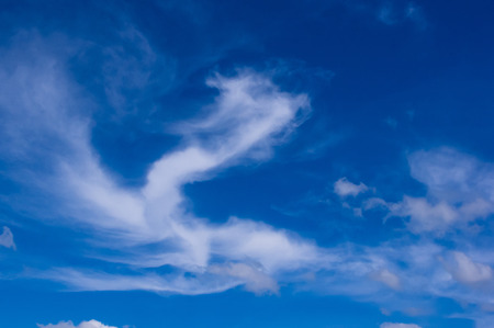 open windows: white clouds on a Sunny day Stock Photo