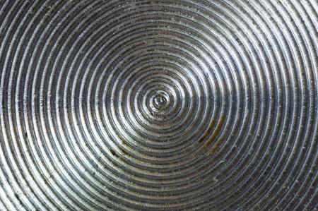 aluminum control knobs retro home audio system, macro, close up
