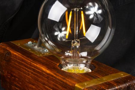 Light fixture handmade in vintage style