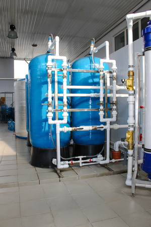 Reverse osmosis system - Installation of industrial membrane devices to the purification of drinking water : pumps, pipelines, tanks, etc.