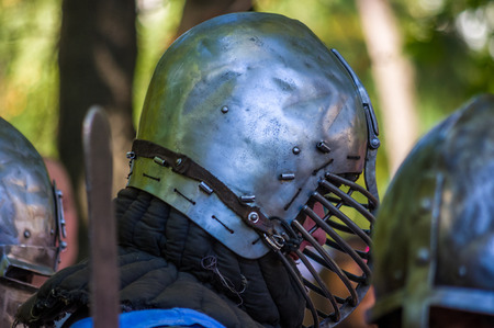 Knights armor for historical reconstructions of medieval battles