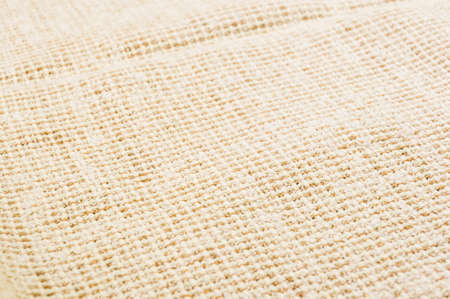texture of light rustic coarse canvas fabric, close-up, background Banco de Imagens