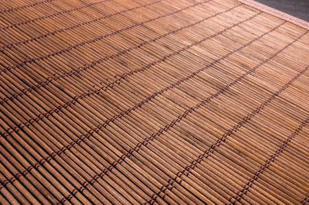 brown bamboo Mat - stand food, close-up, macro, black background