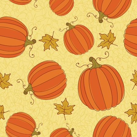 Thanksgiving Seamless Pattern. Vector
