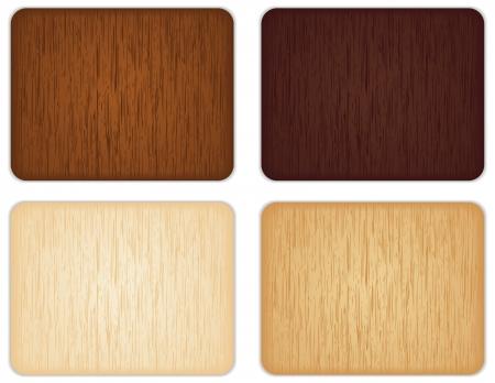 xilografia: Cuatro diferentes señales de madera de colores.
