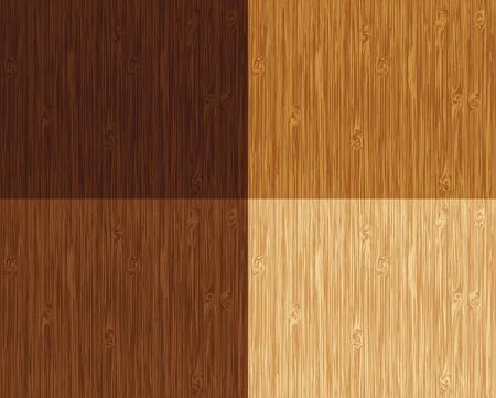 Patrón de madera sin problemas. 4 variaciones de color.