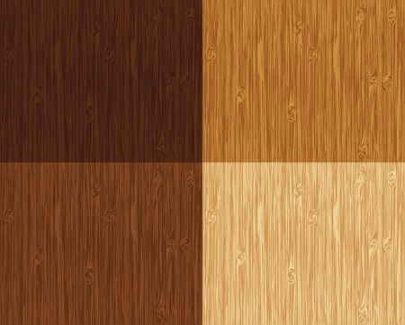 Seamless wooden pattern. 4 color variations. Vector