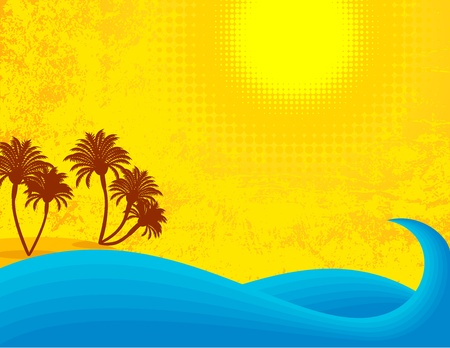 Summer seascape on a sunny day. Stock Vector - 10617699