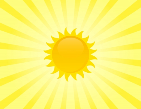 sunstroke: The sun on sunbeam background.