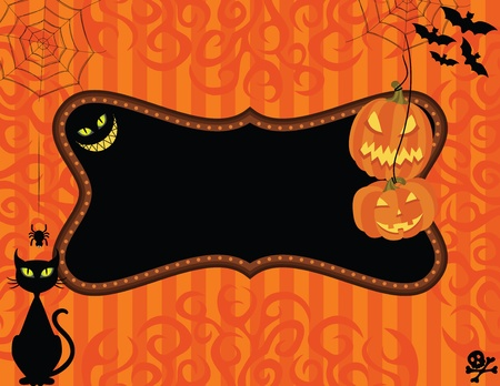 Halloween invitation for your party. Vector