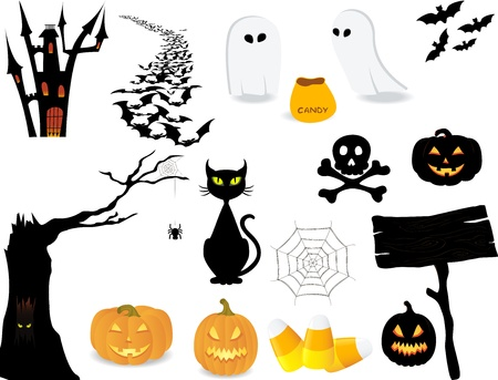 candy corn: Halloween icon set to make your own design.