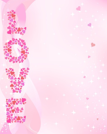Valentines day pink smoth background. Vector