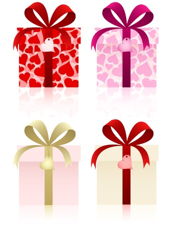gift wrapped: Gifts set for Valentines day and other holidays.