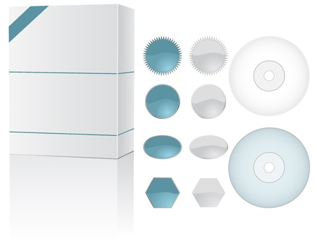 cds: Sofware box set with tags and cds.