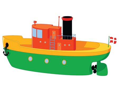 funny boat toy with a lot of details Vector