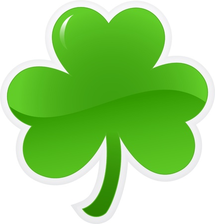 four leaf clovers: Shamrock or clover icon. illustration